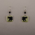 Bear Tea Green Earrings