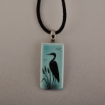 Blue Heron Necklace