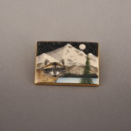 Raccoon Mount Hood Pin