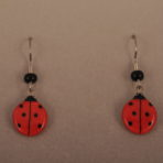 Large Ladybug Earrings