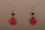 Large Ladybug Earrings